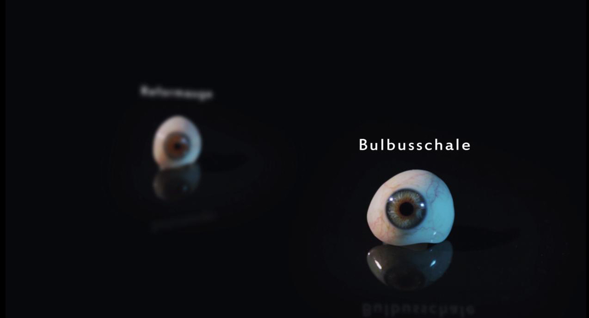 Made artificial human eye glass as Bulbusschale